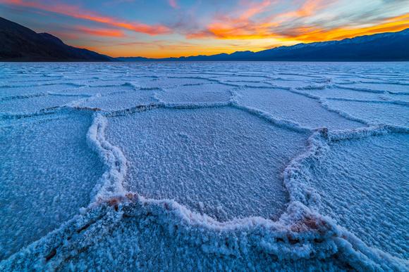 Salt Polygons at Death Valley