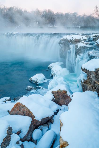 Frozen Grand Falls