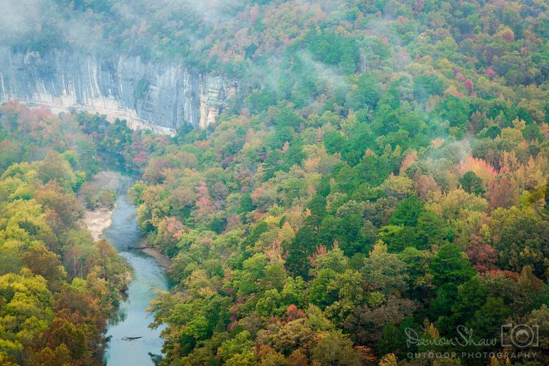 Steel Creek Overlook in October