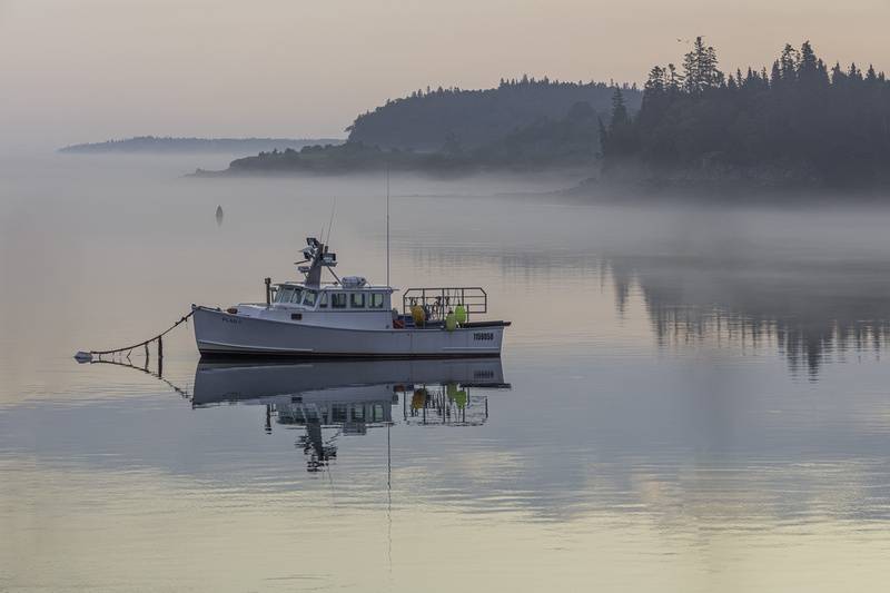 Boat in Lubec, Maine